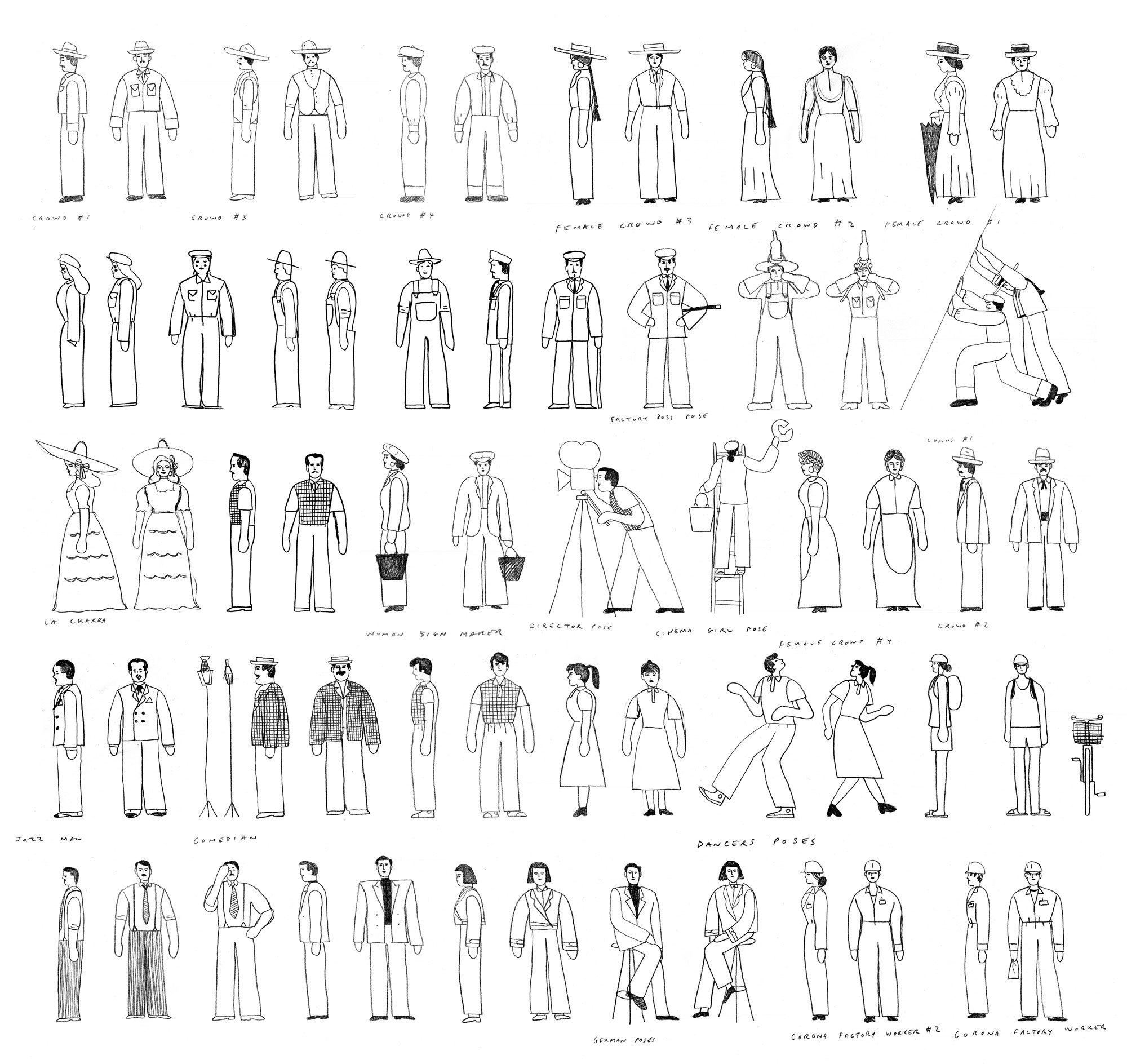 Nicolas Menard Project Corona Character Sketches